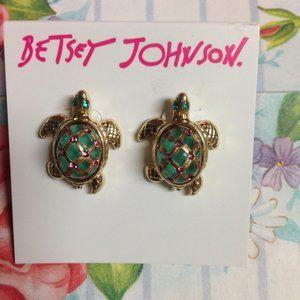 Betsey Johnson 'Sea Excursion Turtle' Earrings